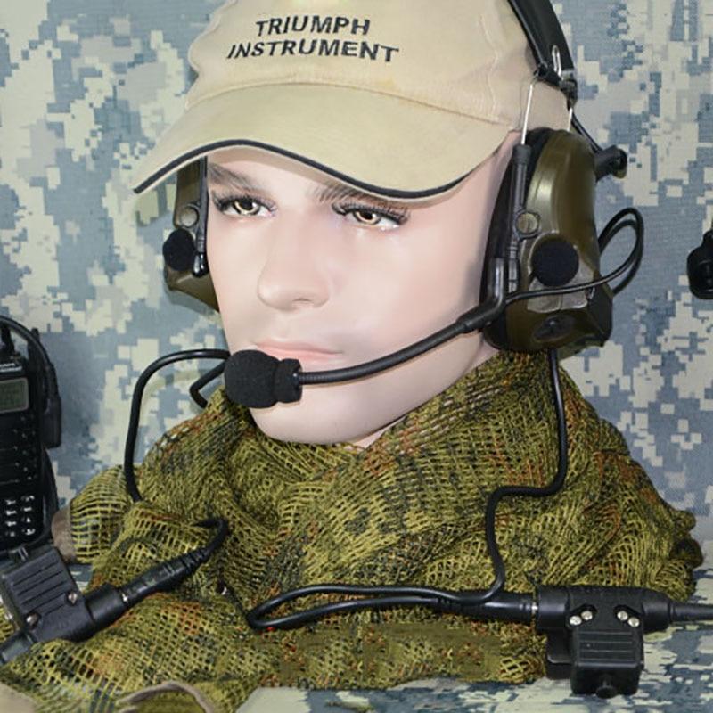 TCA Tactique ComTac III Double Com Ramassage casque anti-bruit Écouteur pour le TCA TRI HARRIS PRC-152 PRC-148 Talkie radio talkie-walkie