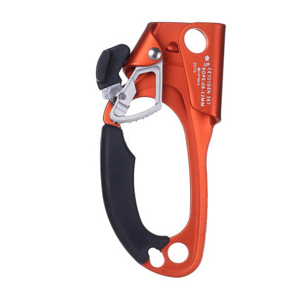 Professional Outdoor Exploring Sports Fit Rock Climbing Equipment Left Handed Left Handed Rope Clamp Ascender Survival Kits