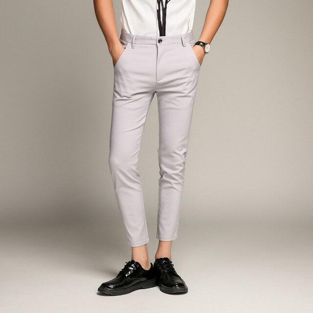 5 Color Slim Soft Stretch Casual Pants  1