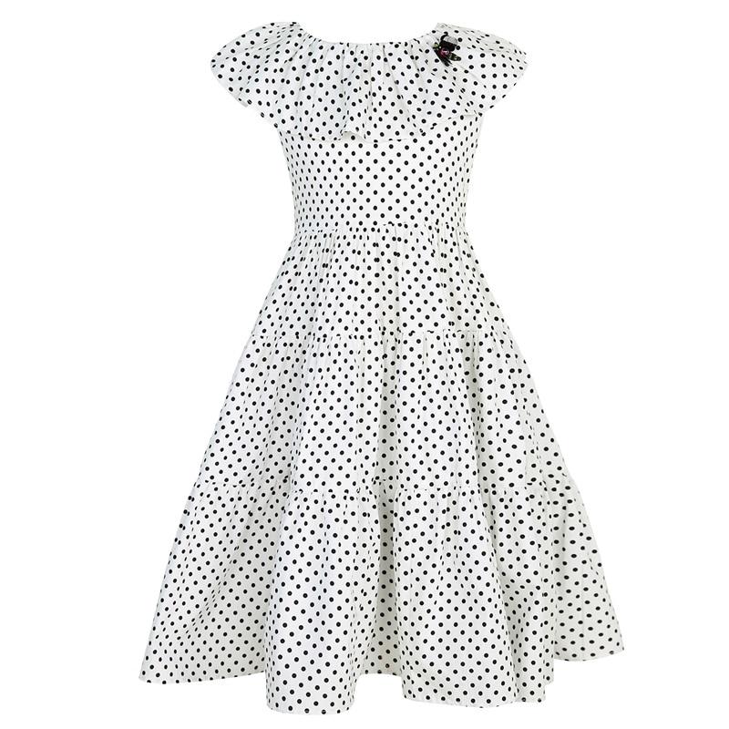 Girls Summer Dresses 2017 Brand Girls Princess Dresses Printing Dot Robe Enfant Costumes For Baby Party Dress Girl Clothing