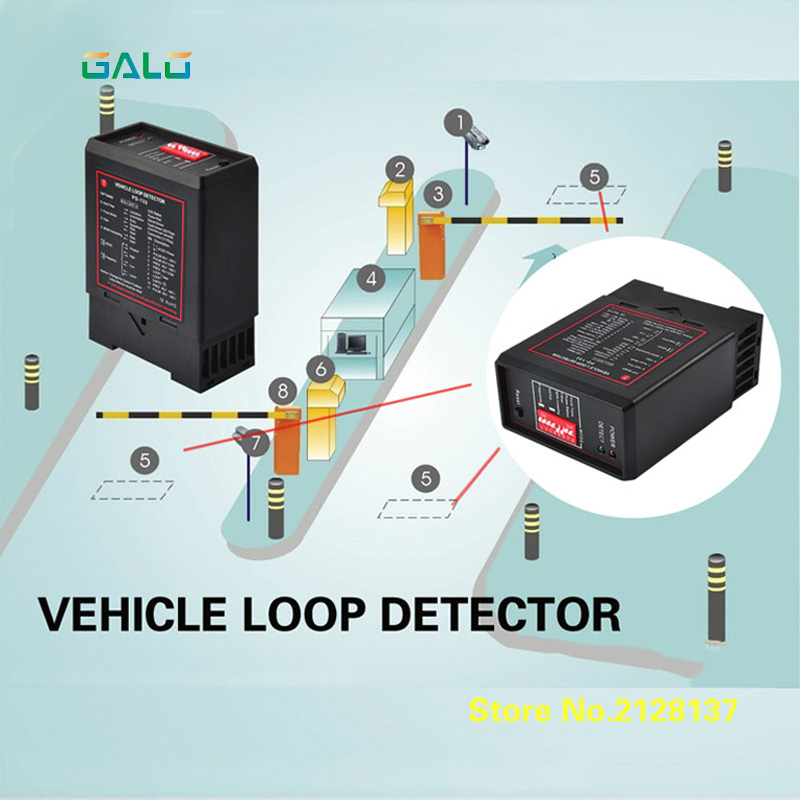 PD132  Inductive VEHICLE LOOP DETECTOR Controller Module,loop Sensor For Vehicle Access
