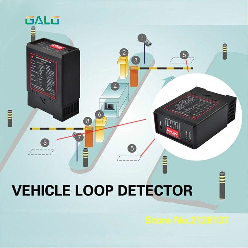 Detector Inductivo del Lazo del Veh/ículo del Solo Canal PD132 para el Control de Tr/áfico del Estacionamiento del Coche