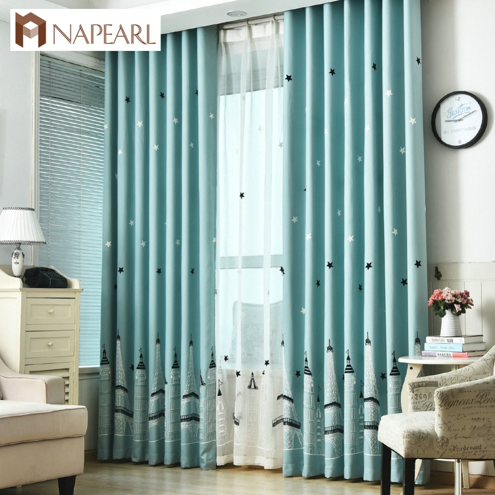 Aliexpress Com Buy Blackout Embroidered Curtains Kid