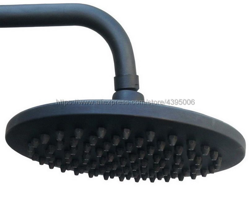 Black Oil Rubbed Brass Round 8 Waterfall Shower heads Rainfall Shower Head Rain Shower Head Bsh049 black oil rubbed bronze 8 inch round rainfall rain bathroom shower head new wsh003