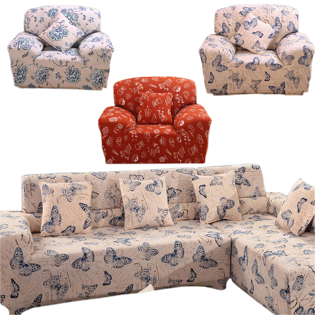 Erfly Sectional Couch Covers L Shaped Sofa Cover Elastic Universal Wrap The Entire Slipcover