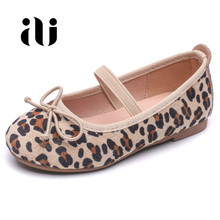 New kids casual shoes children girls leopard Shoes spring autum Leather for princess