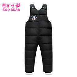 1-6 T Children'S cotton-padded clothes Pants Baby Boys Outside Winter Girls Bib Overalls Kids Trousers Thick warm Vest Windproof