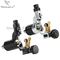 Pro 2pcs Black&Silver Hummingbird V2 Original Swiss Motor Rotary Tattoo Machine Gun kit liner shader for cord
