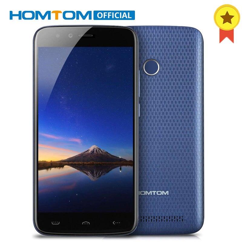 D'origine HOMTOM HT50 Android 7.0 MTK6737 Quad Core 1.3 ghz Mobile Téléphone 3 gb RAM 32 gb ROM 5500 mah batterie D'empreintes Digitales Smartphone