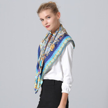 Fashion Printing Silk Scarf Large Size 90 * Female Square SILK Scarves Winter Keep Warm 100% Real Shawl HA777