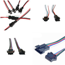 10 Pair 3pin JST Connector Male & Female Cable Wire for WS2811 WS2812B RGB LED Strip цена и фото