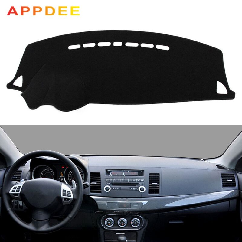 Car Dashboard Cover Mat Pad Sun Shade Instrument Protective Carpet For Mitsubishi Lancer EX 2008 2009 2010 2011-2017 Accessories