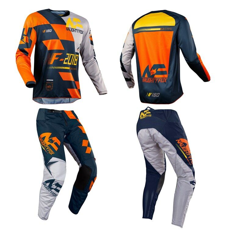 Naughty Fox Motorcycle Motocross SAYAK Set Combo 180 Jersey MX/ATV/BMX Dirt Bike Pants With Protective Pads hct005 best selling 8pcs pack 16x14x500mm 3k twill matte tubes rod boom 100% carbon fiber resin