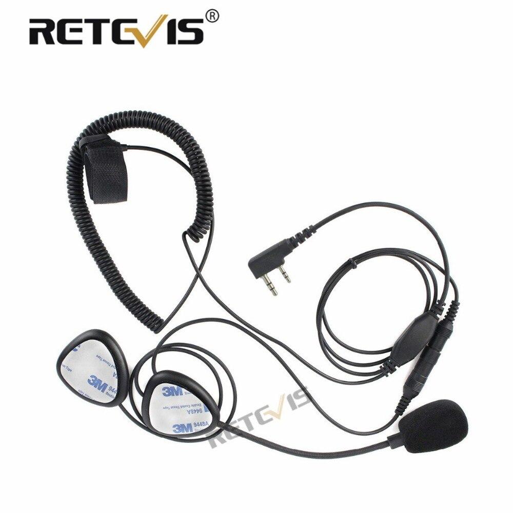 Motorrad Helm Headset Für Walkie Talkie 2Pin Finger PTT Mic für Baofeng UV-5R Für Kenwood für Puxing für Retevis RT5R/H777