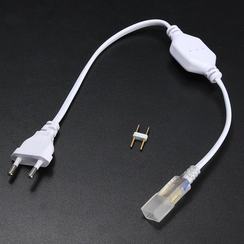 2pin 6mm Cable LED Strip Light 5050 2835 3014 5630 SMD Light Bar Plug LED Lamp Belt Accessories EU Plug With Needle 220V-240V
