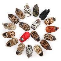 Hongteya/новая детская обувь из натуральной кожи с леопардовым принтом для маленьких девочек, мягкая обувь из конского волоса для мальчиков, об...