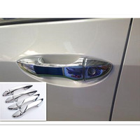 Free Shipping ABS Chrome Door Handle Cover 2014 For Toyota COROLLA Auto Accessories 8 Pcs