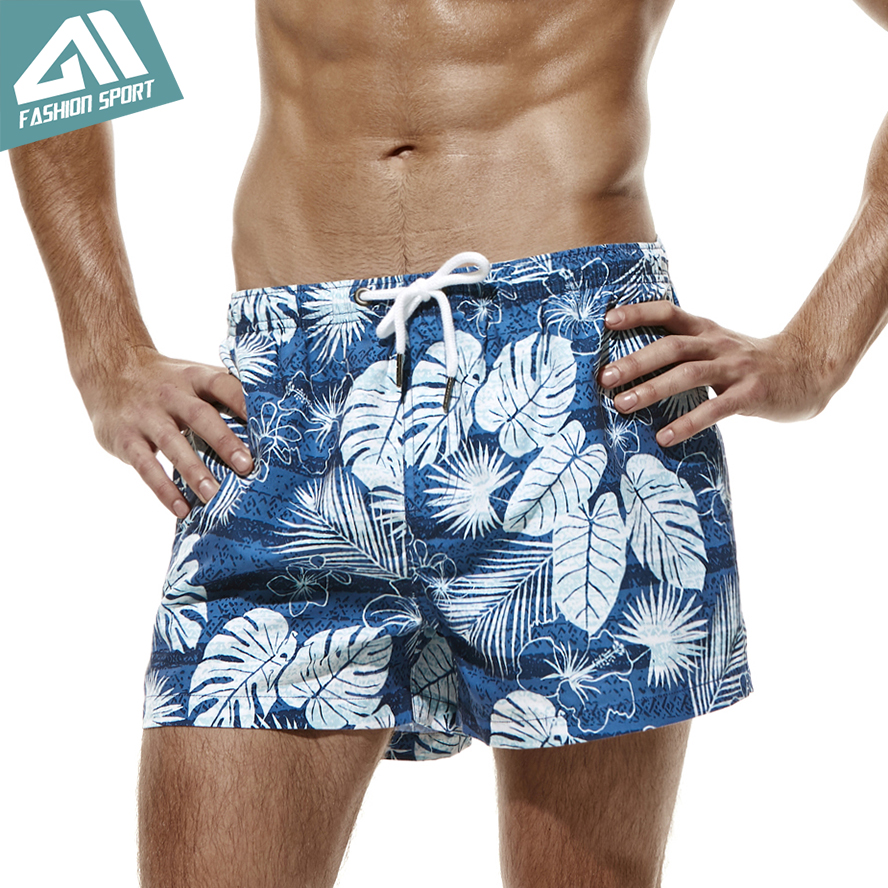 Holiday Beach Fast Dry Men Swimming   Shorts   Fixed Waist Swim Trunk Seobean Summer Playful Pattern Men's   Board     Shorts   AM2054