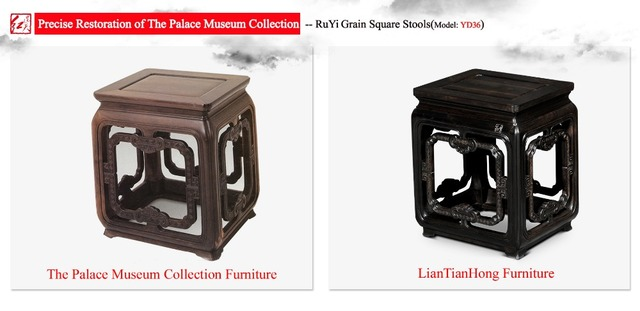 RuYi Grain Square Wooden Stools Low Rectangular Bench For Kids Stools Prime NO back Chinese court furniture Burmase Rosewood