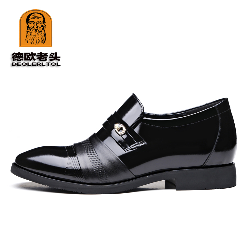 3c5335264146 US $39.59 26% OFF|2018 männer Echte Leder Schuhe Marke Zunehmende 6 cm  Weichen Mann Business Schuhe Herbst Qualität Leder Mann Kleid Schuhe in  2018 ...