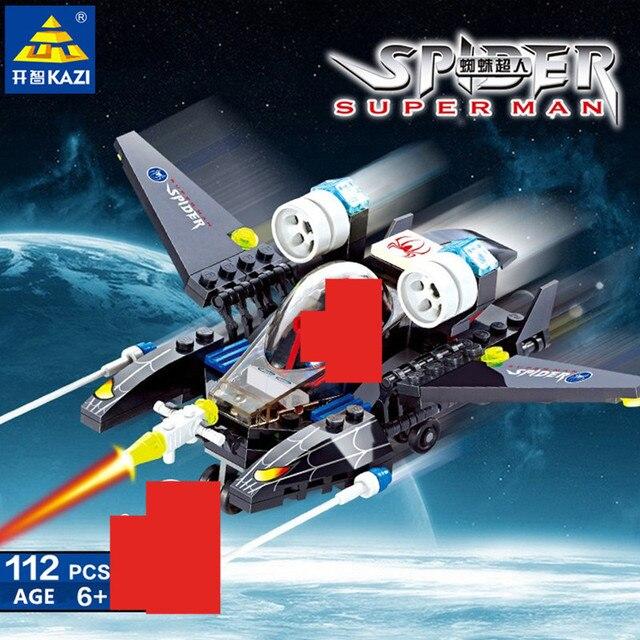 112 Pcs Conjuntos de Blocos de Construção de Super Heróis Lutador Cidade Do Homem Aranha Figuras Bricks DIY Brinquedos Educativos para Crianças