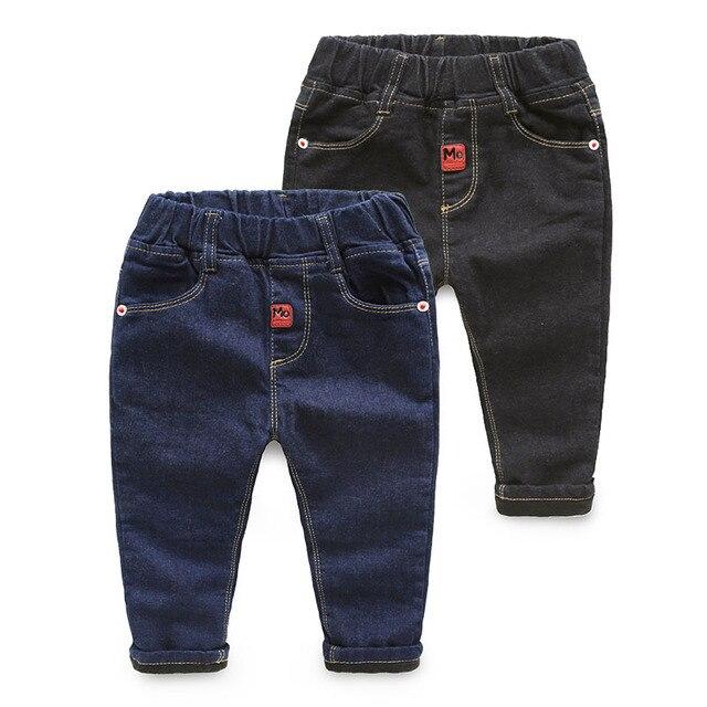 Зима Корейский новый детская одежда мальчиков бархат утолщение жан Горячей продажи брюки прилив теплые джинсы 2-3-4-5 год