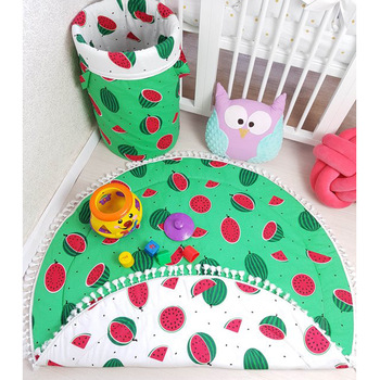 90CM Baby Double sided Crawling Mat Environmental Protection Mat Watermelon Blanket Shatter-resistant Pad Infant Game Play Rug good little baby crawling mat climb pad double sided pattern of increased moisture thicker section skid game blanket outdoor pad