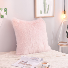 Colors 2 Hot Sale Super Soft Plush Faux Fur Fleece Throw Pillow Cases Cotton Home Linen Square Pillow Case Cover Pillows Pillow