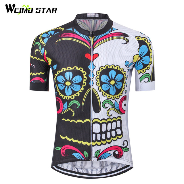da889b3b3 Weimostar White Black Skull Cycling Jersey 2018 Pro Team Bike Jersey MTB  Bicycle Wear Clothes Summer Downhill Cycling Clothing