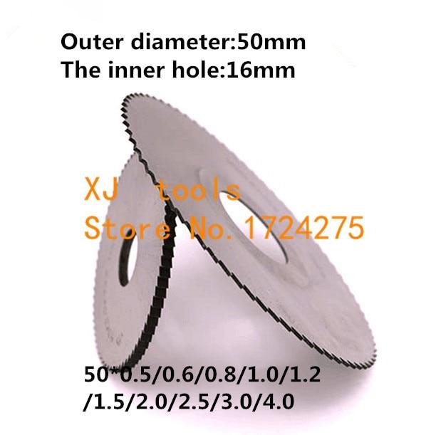 5PCS HSS Milling Cutter 50*0.5/0.6/0.8/1.0/1.2/1.5/2.0/2.5/3.0/4.0,Slotting Cutter,saw Blade Milling Cutter,milling Pin Tool