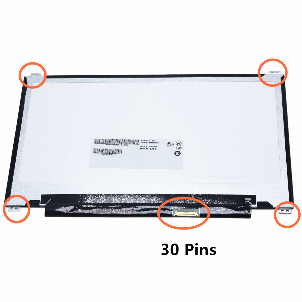 11.6 LCD Screen LED Display Panel Matrix B116XTN02.3 N116BGE-EB2 For ASUS X205 X205T X205TA 30 Pins 1366x768 Up+Down Screw Hole цена