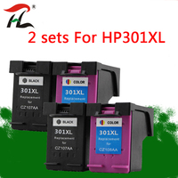 2 set Compatible ink cartridges for HP301XL hp 301 301XL CH563EE CH564EE for hp301 Deskjet 1000 1050 2000 2050 2510 3000 3054