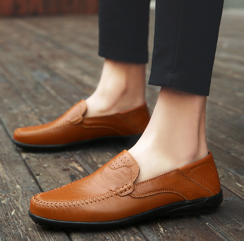 HTB1Lt1yLbvpK1RjSZFqq6AXUVXaI Summer Men Shoes Casual Luxury Brand Genuine Leather Mens Loafers Moccasins Italian Breathable Slip on Boat Shoes JKPUDUN