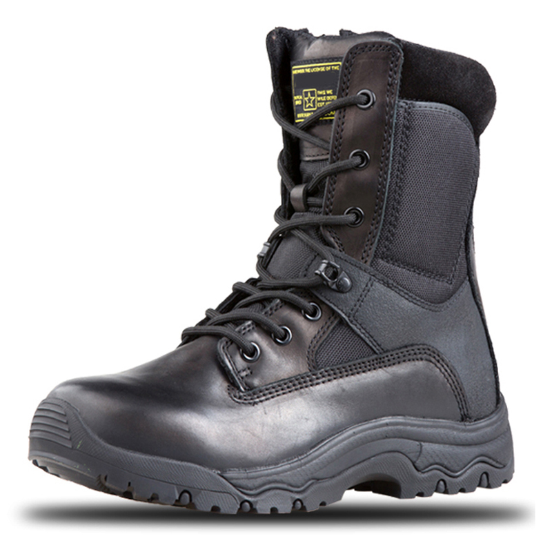 Genuine Leather YKK Combat Military Boots For Men Tactical Outdoor Shoes Non Slip Waterproof Light Weight Combat Boots For Women