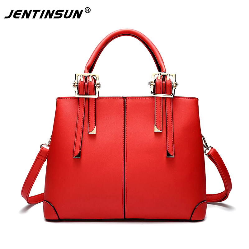Fashion European and American women handbags Genuine Leather Pure Colour Luxury Tote bag package shoulder messenger bags 2017 autumn european and american fashion women s handbags high end atmosphere banquet tote bag dhl speedy shipping