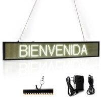 82 CM Blanc de L'UE P5 SMD Led Signe Programmable Message Défilant LED Panneau D'affichage avec Chaîne En Métal Temps compte à rebours d'affichage