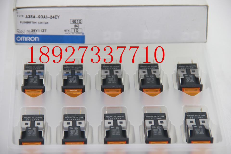[ZOB] New original OMRON Omron button switch A3SA-90A1-24EY --2PCS/LOT [zob] 100% brand new original authentic omron omron photoelectric switch e2s q23 1m 2pcs lot