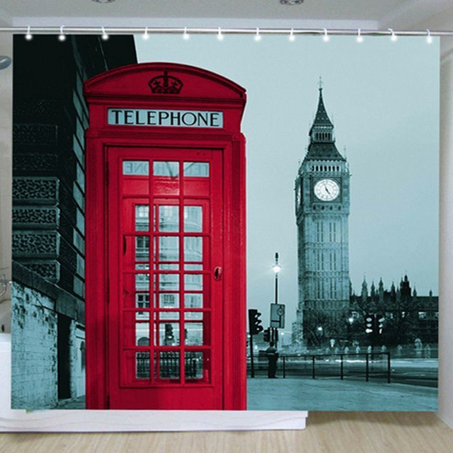 Topcute Bathroom Shower Curtains Social Curtain Wayfair Europe Style Creative London Ben Pattern