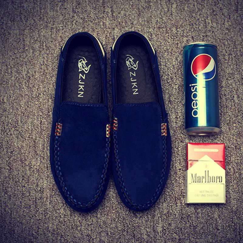 2019 ฤดูใบไม้ผลิใหม่ฤดูใบไม้ร่วงคนรองเท้า peas รองเท้า breathable รองเท้าแฟชั่น lace - up สีผสม lensuire Driver รองเท้ารองเท้าผ้าใบ