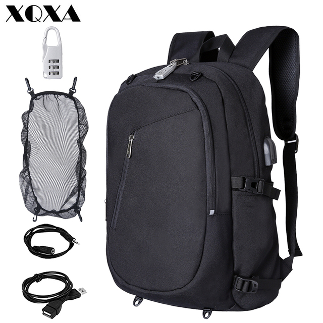 0fce2e4cb4050e XQXA Laptop Backpack Anti Theft Backpack with Lock 15.6