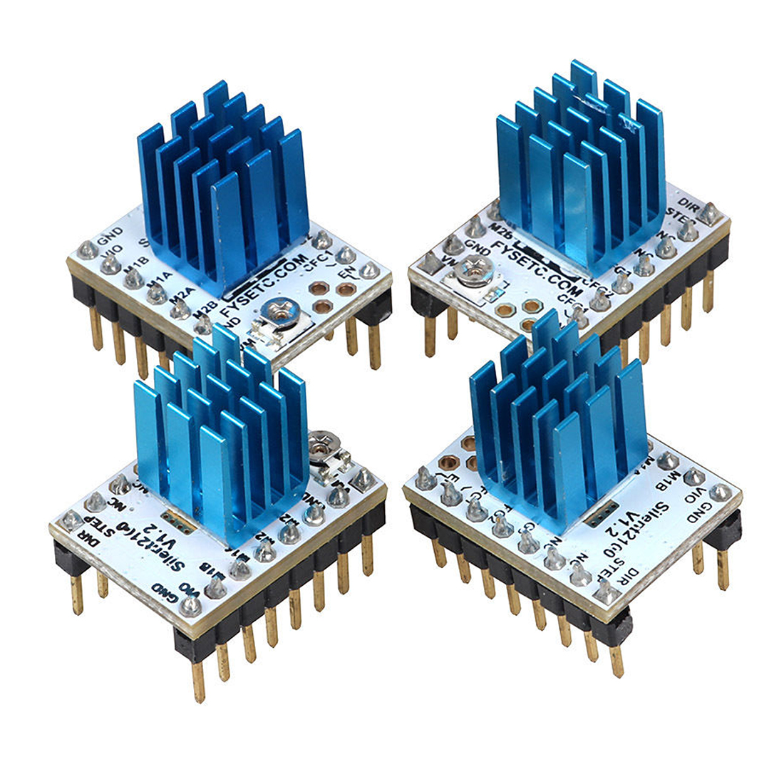 цена на 3D Printer Motor Drive for Anycubic TMC2100 Stepper Motor Driver with free Heat Sink WHITE