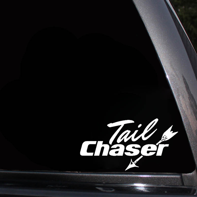 Tail Chaser Hunting Funny Car Auto Truck Window Vinyl Decal Sticker