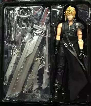 Huong Anime Figure 27 CM Final Fantasy Final Fantasy VII Cloud Strife PVC Action Figure Collectible Toy Model huong anime slam dunk 24cm number 11 rukawa kaede pvc action figure collectible toy model brinquedos christmas gift