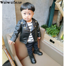 PU Leather Jacket for Boys&Girls Fashion windbreaker Baby Jackets Short Coat baby Clothes Infant Spring&Autumn Kids Coats NN02 hot sale 2017 baby girls leather jacket autumn child toddler girl heart shape back pu jackets coat fashion designer outwear