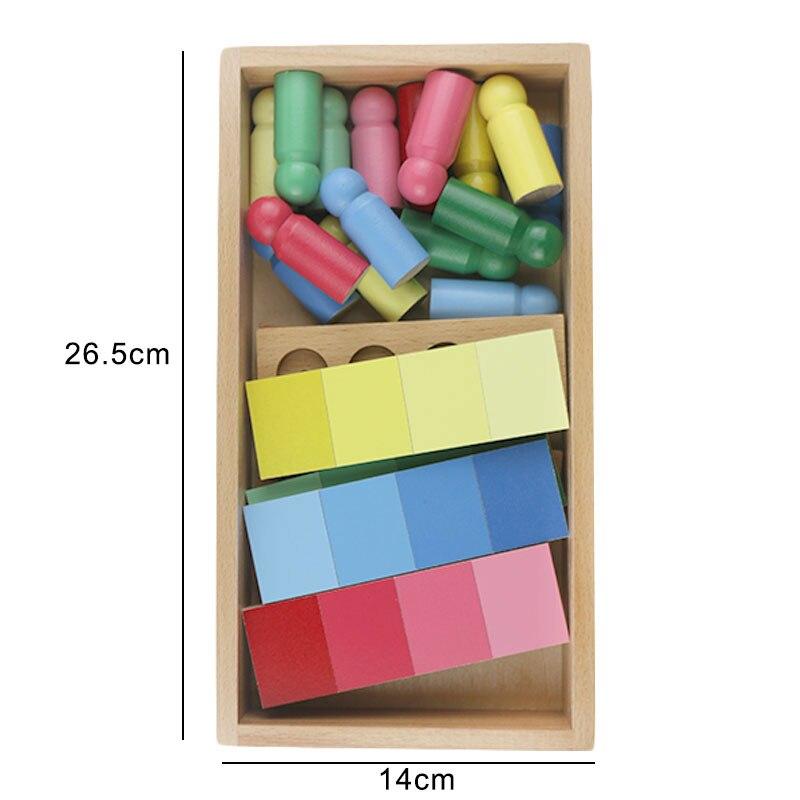 En bois Montessori SensoryToys Montessori couleur correspondant éducatif bébé apprentissage jouets pour enfants Juguetes Montessori ME1664H - 5