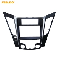 FEELDO Car Refitting DVD Radio 2Din Fascia Frame for Hyundai Sonata YF(Luxry Type LHD) Stereo Face Panel Dash Installation Trim