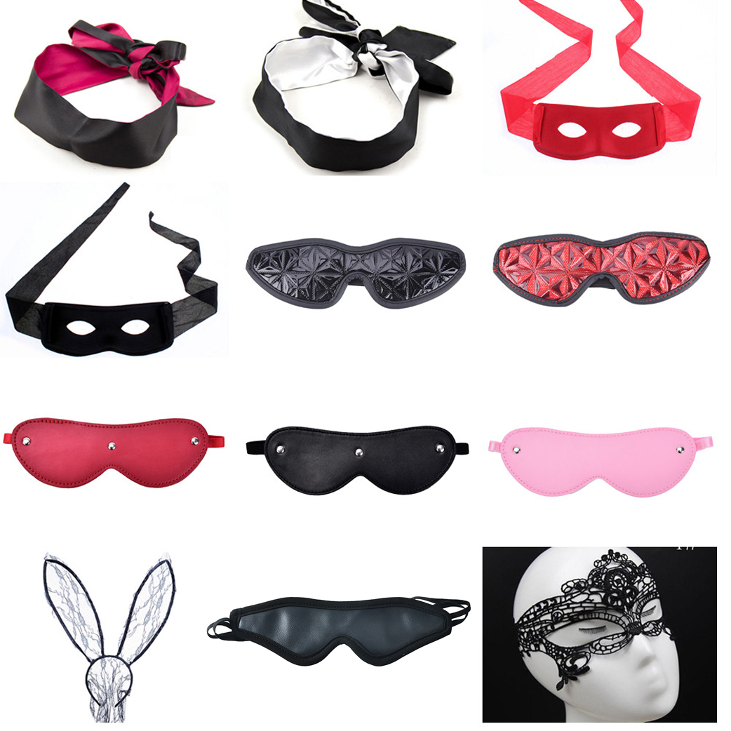 Erotic Lingerie Eye Mask For Couple Women Sex Soft Sleep Sex Bandage Breathable Cover Eye Patch Belt Blindfold Sexy Exotic Games Home
