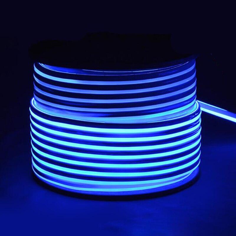 Fanlive супер яркий 50 м светодиодный неоновый свет 110 В 220 В Гибкая лампа красное украшение слоновая кость 80 светодиодный s/M светодиодная лента Водонепроницаемый свет Rgb