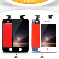 High Quality AAA Tested LCD Display For IPhone 4S Screen Replacement With LCD Digitizer Touch Screen