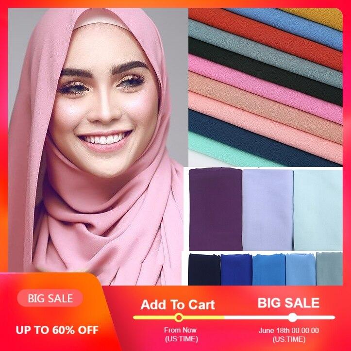 1 pc popular Malaysia style women plain bubble chiffon   scarf   hijab   wrap   solid color shawls headband muslim hijabs   scarves  /  scarf